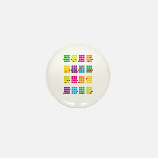 Uke Chords Colourful Mini Button