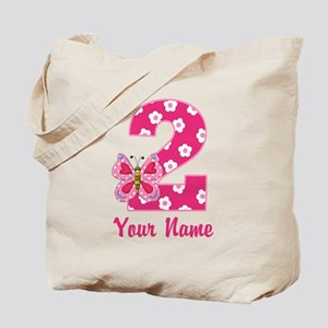 2nd Birthday Butterfly Tote Bag