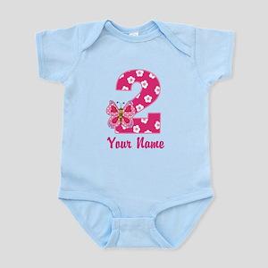 2nd Birthday Butterfly Infant Bodysuit