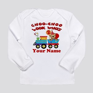 2nd Birthday Train Long Sleeve Infant T Shirt