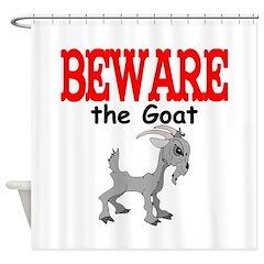 Beware the GOAT Shower Curtain