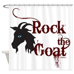 Rock the Goat Shower Curtain