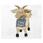 Funny Goats - Totes MaGoats King Duvet
