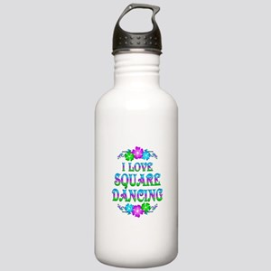 Square Dancing Love Stainless Water Bottle 1.0L