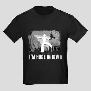 I'm Huge In Iowa, Funny, Kids Dark T-Shirt