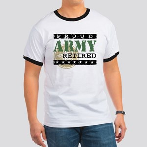 Proud Army Retired Ringer T
