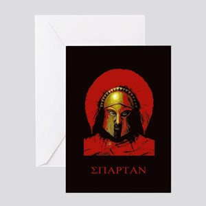Spartan Greeting Card