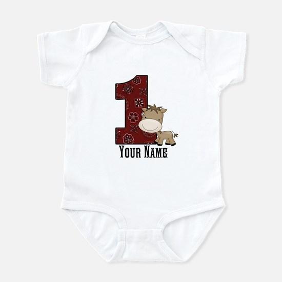 First Birthday Horse Infant Bodysuit