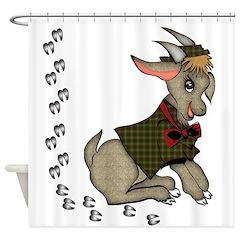 Cute Boy Goat Shower Curtain