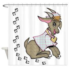 Cute Girl Goat Shower Curtain