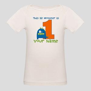 First Birthday Monster Organic Baby T-Shirt