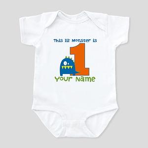 First Birthday Monster Infant Bodysuit