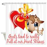 Goat Heart Shower Curtain