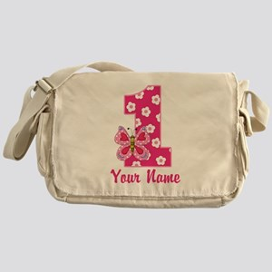 First Birthday Butterfly Messenger Bag