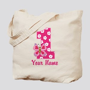 First Birthday Butterfly Tote Bag