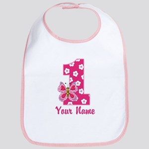 First Birthday Butterfly Bib