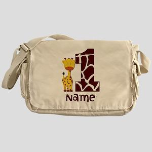 First Birthday Giraffe Messenger Bag