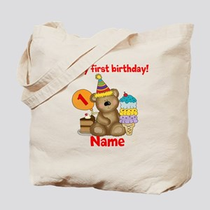 First Birthday Bear Tote Bag