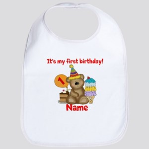 First Birthday Bear Bib