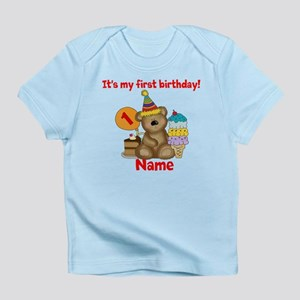 First Birthday Bear Infant T Shirt