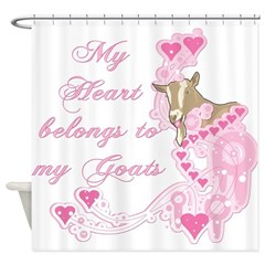 Goat Heart Shower Curtain