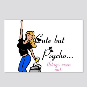 Cute but Psycho Postcards (Package of 8)