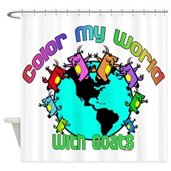 Goat-Color My World Shower Curtain