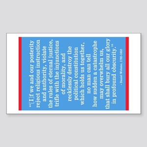 Daniel Webster Warning Sticker (Rectangle)