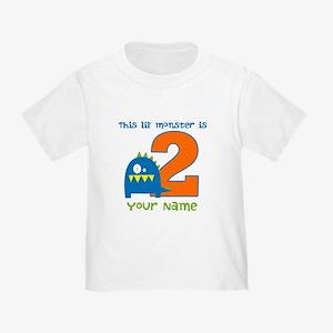 2nd Birthday Monster Toddler T-Shirt