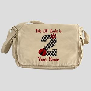 2nd Birthday Ladybug Messenger Bag