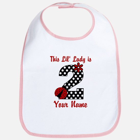 2nd Birthday Ladybug Bib