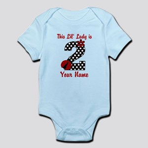 2nd Birthday Ladybug Infant Bodysuit