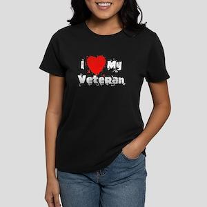 I <3 My Veteran Women's Dark T-Shirt
