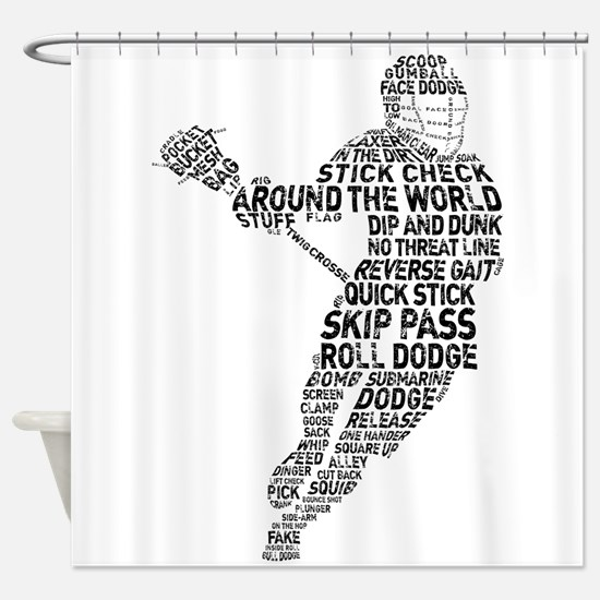 Lacrosse LAX Player Shower Curtain