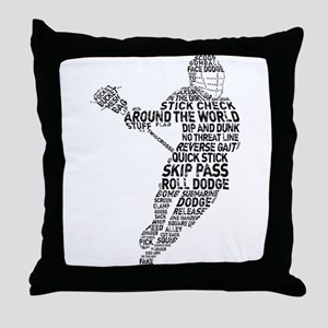 Lacrosse LAX Player Throw Pillow