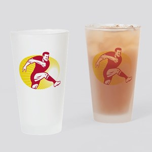 Rugby Kicking Drinking Glass