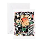 Ukiyo-e - 'Chikashige Head' Greeting Cards (Packag