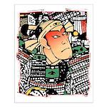 Ukiyo-e - 'Chikashige Head' Small Poster