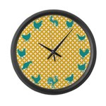 Large Chicken Wall Clock