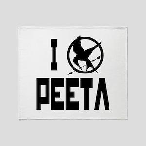 I Love Peeta Hunger Games Throw Blanket
