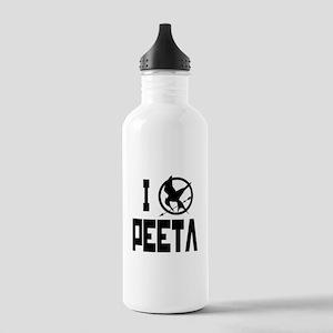 I Love Peeta Hunger Games Stainless Water Bottle 1