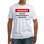 Warning Wildly Inappropriate Fitted T-Shirt