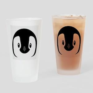 Penguin face Drinking Glass