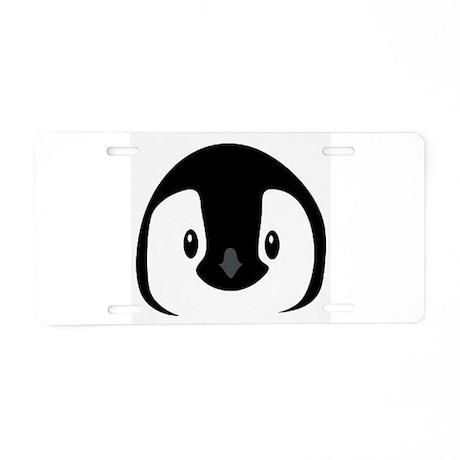 Penguin face Aluminum License Plate