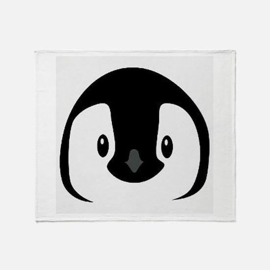 Penguin face Throw Blanket