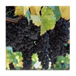 Lush Wine Country Grapes Tile Coaster