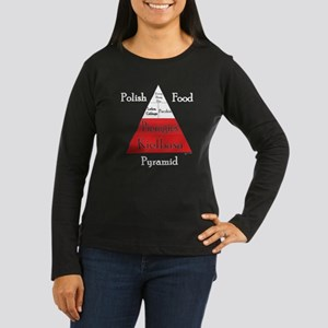 Polish Food Pyramid Women's Long Sleeve Dark T-Shi
