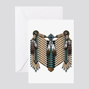 Native American Breastplate - Greeting Card