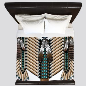 Native American Breastplate - King Duvet
