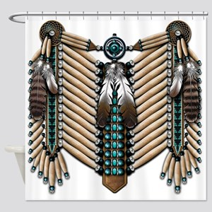 Native American Breastplate - Shower Curtain